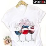 Wine us flag independence day for lovers t shirt hoodie sweater