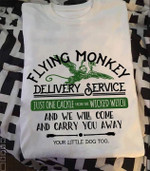 flying monkey delivery service just one cackle from wicked witch t shirt hoodie sweater