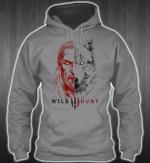 wild hunt wolf viking man t shirt hoodie sweater