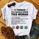5 things you should know this woman she is a dog mom she loves her dogs to moon and back t shirt hoodie sweater