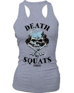 Death by squats for workout lover skull t shirt hoodie sweater