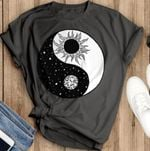 Yin and yang sun and moon for lovers t shirt hoodie sweater