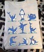 Yoga shark for lovers t shirt hoodie sweater