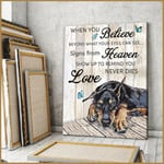 Dobermans When You Believe Beyond What Your Eyes Can See Signs From Heaven Poster