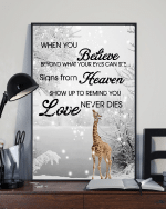 Giraffes When You Believe Beyond What Your Eyes Can See Signs From Heaven Poster