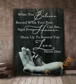 Butterfly In Hand When You Believe Beyond What Your Eyes Can See Signs From Heaven Poster