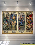 Paramedic Be Strong Be Brave Be Humble Poster