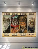 Cat Pilot Be Strong Be Brave Be Humble Poster