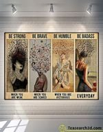 Music Girl Be Strong Be Brave Be Humble Poster