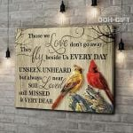 Cardinals Those We Love Don't Go Away They Walk Beside Us Every Day Poster