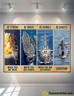Us Navy Be Strong Be Brave Be Humble Poster