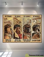 Dog Pilot Be Strong Be Brave Be Humble Poster