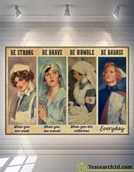 Be Strong Be Brave Be Humble Poster