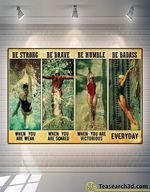 Swimming Be Strong Be Brave Be Humble Poster