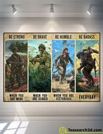Veteran Be Strong Be Brave Be Humble Poster