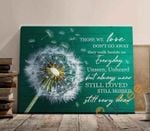 Dandelion Those We Love Don't Go Away They Walk Beside Us Every Day Poster