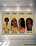Black Modern Women Be Strong Be Brave Be Humble Poster