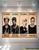 Frida Kahlo Be Strong Be Brave Be Humble Poster For Fans