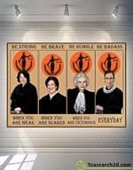 Supreme Court Women Judges Be Strong Be Brave Be Humble Poster For Fans