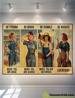 Farmer Girl Be Strong Be Brave Be Humble Poster