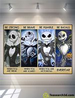 Jack Skellington Be Strong Be Brave Be Humble Poster For Fans