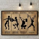 Lifting be strong be brave be humble be badass everyday home decor gift poster canvas