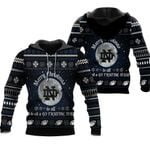 merry christmas Notre Dame Fighting Irish to all and to all a go Fighting Irish ugly christmas 3d printed sweater t shirt hoodie