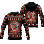 merry christmas Illinois Fighting Illini to all and to all a go Illini  ugly christmas 3d printed sweater t shirt hoodie