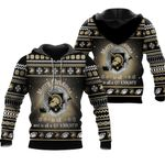 merry christmas Army Black Knights to all and to all a go Knights  ugly christmas 3d printed sweater t shirt hoodie
