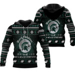 merry christmas Michigan State Spartans to all and to all a go Spartans  ugly christmas 3d printed sweater t shirt hoodie