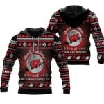 merry christmas Wisconsin Badgers to all and to all a go Badgers ugly christmas 3d printed sweater t shirt hoodie
