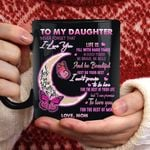 To my daughter never forget that i love you to the moon and back butterfly love mom family gift t shirt hoodie sweater