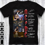 Acdc signature for fan angus young brian johnson phil rudd malcolm young cliff williams t shirt hoodie sweater