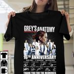 Grey's anatomy 16th anniversary 365 episodes signed for fan thank you for the memories t shirt hoodie sweater