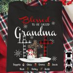 Blessed to be called grandma christmas gift xmas t shirt hoodie sweater