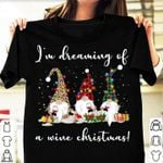 Im dreaming of a wine christmas ornament xmas gift t shirt hoodie sweater