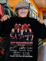 Acdc 48th anniversary for fan signed by band member thanks for memories t shirt hoodie sweater