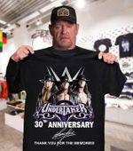 Undertaker 30th anniversary signature for fan thanks you for memories gift t shirt hoodie sweater