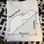 Hippopotenuse hippo mathematics triangle abc birthday gift t shirt hoodie sweater