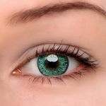 Eyeshinning Floweriness Green Colored Contact Lenses
