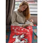 Blanket Santa Claus Is Riding A Unicorn Merry Christmas Gift Soft Warm Fuzzy Blanket Fleece Blanket