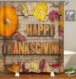 thanksgiving day shower curtains fabric funky orange polyester cloth print bathroom curtains
