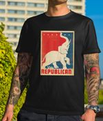 Vote Republican Elephant Vintage Style US Election 2020