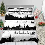 Black And White Christmas Santa Gifts Fantasy 3D Bedding Set Bedroom Decor