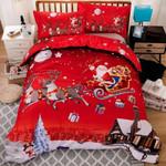 3D Merry Christmas Santa Printed Bedding Set Bedroom Decor
