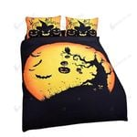 Halloween 3d Pumpkin And Bat Bedding Set Bedroom Decor