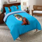 Rick And Morty Blue Printed Bedding Set Bedroom Decor
