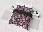 Sugar Skulls And Roses Bedding Set Bedroom Decor