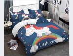 Lovely Unicorn Rainbow Bedding Set Bedroom Decor
