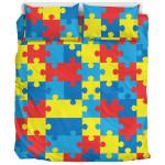 Color Autism Awareness Bedding Set Bedroom Decor